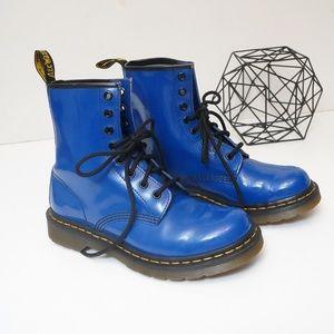 Dr. Martens Patent Royal Blue Boots